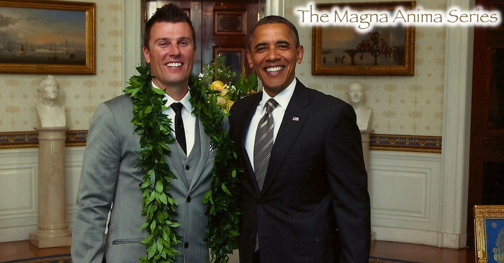 Chad Miller and Barack Obama portrait