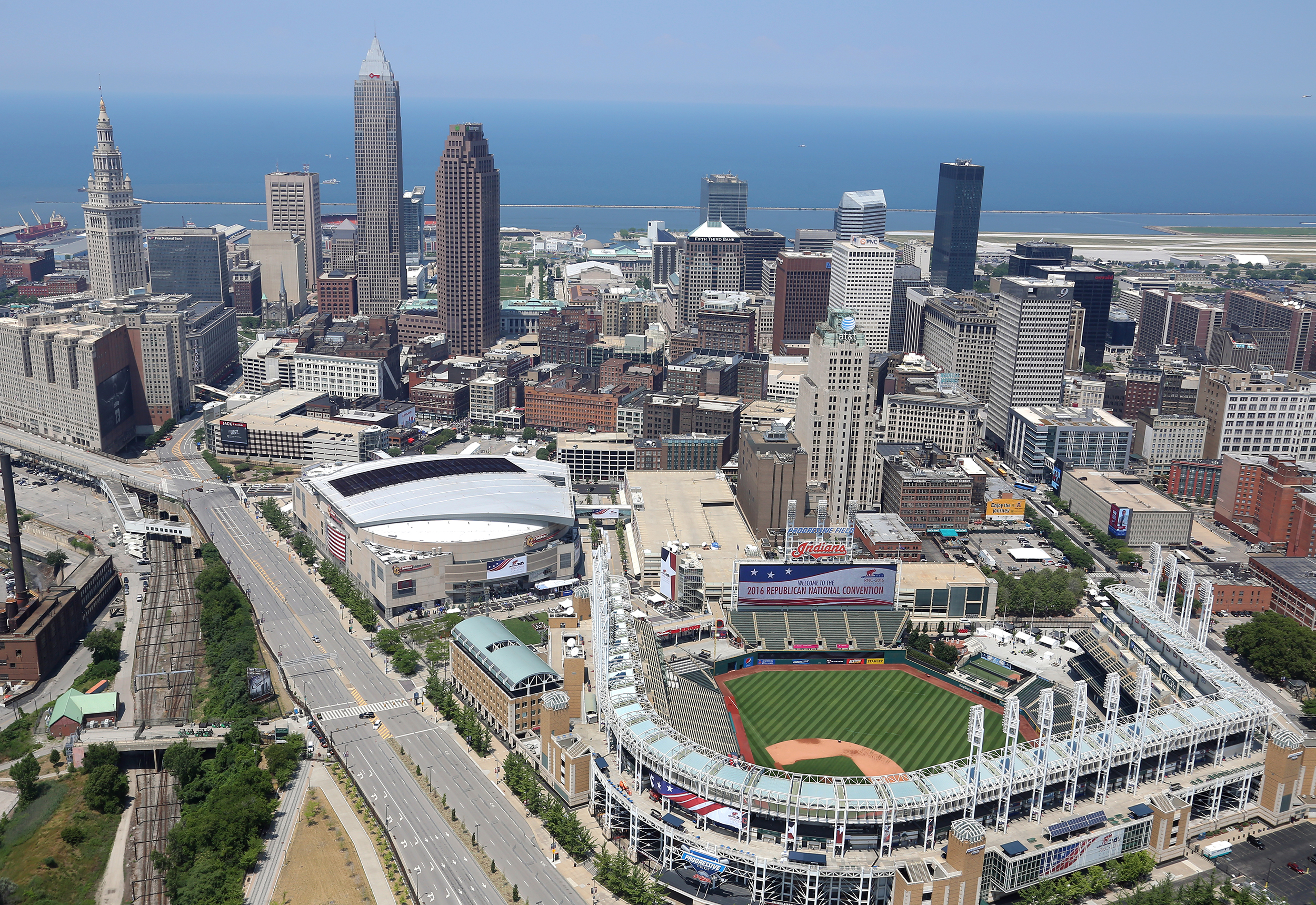cleveland arial view