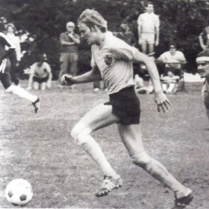Andrew McCarthy playing soccer