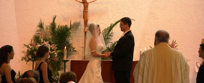 Wedding in St. Francis Chapel at John Carroll University