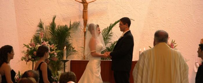Wedding in St. Francis Chapel at John Carroll University
