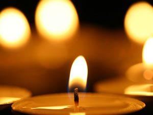 Prayerful candle