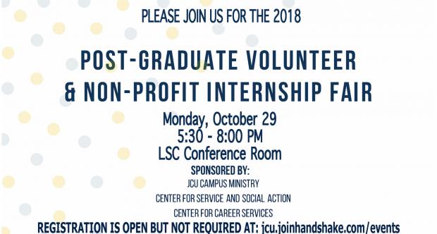 The Post-Graduate Volunteer & Non-Profit Internship Fair
