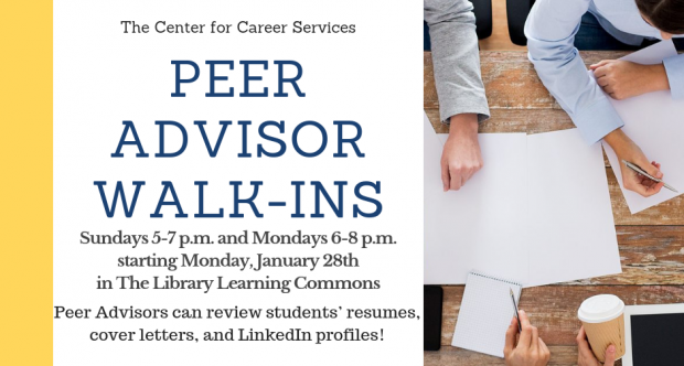 Peer Advisor Walk-In Hours