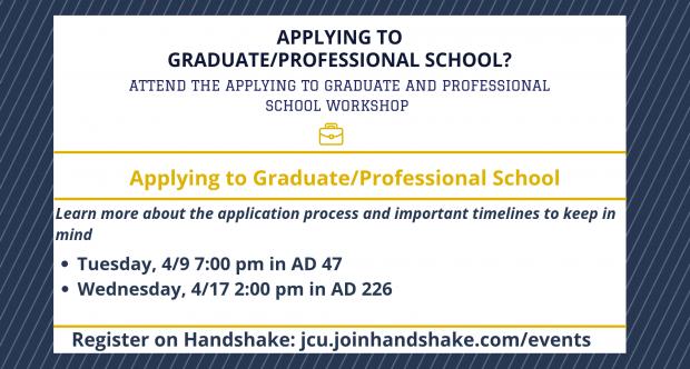 Applying to Graduate/Professional School Workshop