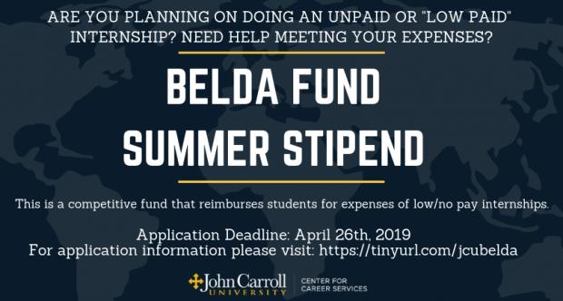 Belda Fund Summer Stipend