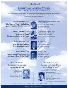 lecture series catholic studies