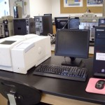 Perkin Elmer Spectrum One FTIR w/ Diffuse Reflectance and Horizontal ATR Sampling Accessories  (in Instrument Room)