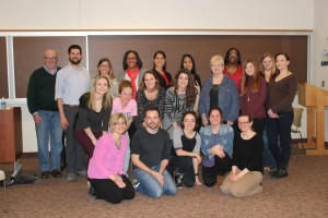 JCU counseling students with Patrick Moy (first row, second in from the left) from the Actors from the London Stage.