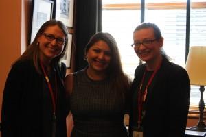 Christine and Emily with State Senator Capri S. Cafaro