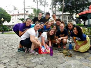 Group with lizard