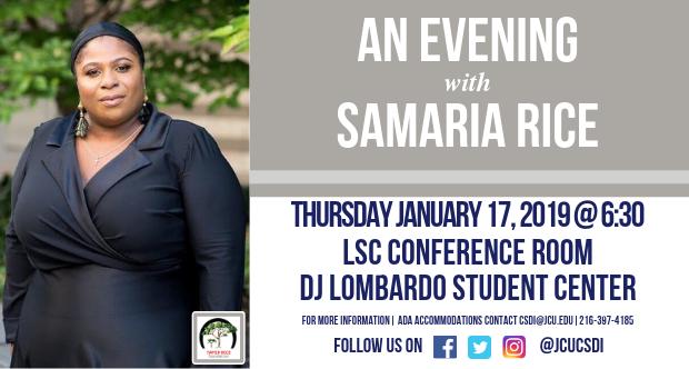 An Evening with Samaria Rice