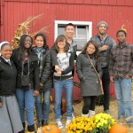 Students at a Ridgeview Farm's Fall Festival