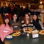 Enjoying the Global Family Dinner at Schott Dining Hall