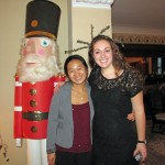 Posing with a nutcracker