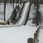 The toboggan hill at Cleveland Metroparks
