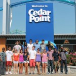 At the entrance to Cedar Point, the largest amusement park in Ohio.