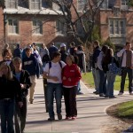Students walking to class