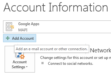 Add Account Screen