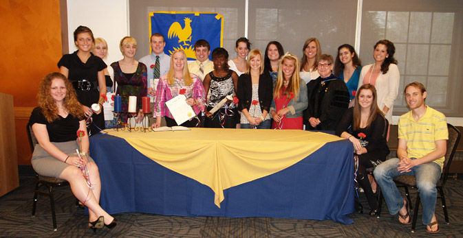 Photograph of inductees following ceremony.