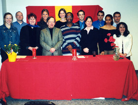 students and Spanish faculty