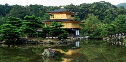 Photograph of Kinkakuji Golden Pavilion, Japan