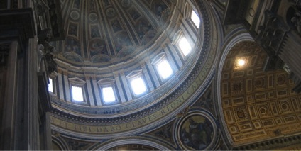 Interior photo taken at St. Peter's Basilica, Vatican City.
