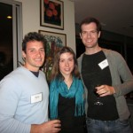 Steve Yonto '07, Janet Kramer '05 and Brian Wren '06