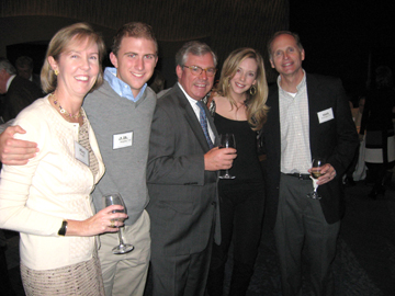 Mary Meathe, J.B. Meathe, James Meathe '79, Meghan McMullen, and Mark McMullen '77