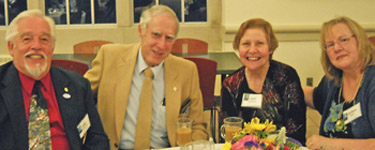 A reunion dinner at JCU (from left): John Szuch, Gary Silverberg, Carol Silverberg and Marlene Szuch