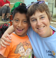 The author poses with a Guatemalan boy.