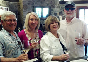 From left: John Compisi, Linda Compisi, Terri Mohler, and Marty Mohler at Simi Winery