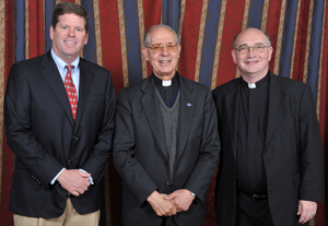 From left: Short, Fr. Nicolas, Fr. Niehoff