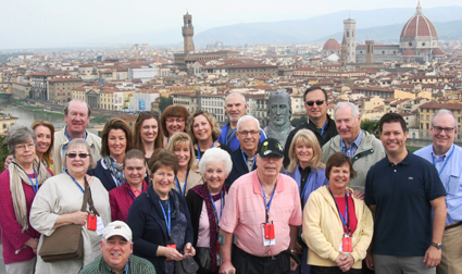 Italian immersion. The JCU Alumni Travel Program took its first trip to Tuscany, Italy, April 2-11. In nine days, alumni and friends toured Florence and Siena and immersed themselves in the rich culture, cuisine, and history of the region. In light of the success in Italy, the alumni relations office is exploring a trip in 2015.