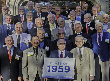 Classmates at the 2014 reunion
