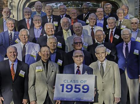 Classmates at the 2014 reunion