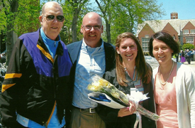 Three generations of Doyle JCU grads (from left): John '62, Patrick '87, Mary '14, and Kathleen (Loftus) '86 Doyle