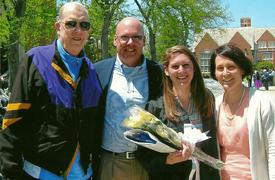 Three generations of Doyle JCU grads (from left): John '62, Patrick '87, Mary '14, and Kathleen (Loftus) '86 Doyle