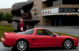 Komar and his 1999 Acura NSX