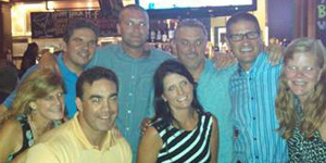 Classmates gathered this summer at Bar Louie in Cleveland.