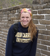 Buzak on the Great Wall of China