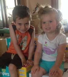 The Monateri kids – Dominic (5) and Gianna (2)
