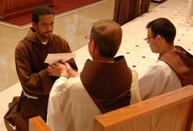 Francisco Lopez takes temporary vows.