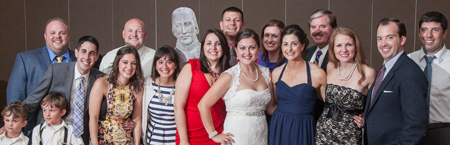 Friends and family of Rosanna Violi on her wedding day