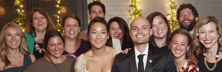 Many Carroll friends attended the wedding of Alan Leber '07 and Hyojin Park.