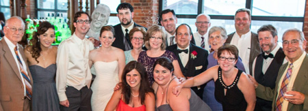Many JCU friends and family members celebrated the wedding of Melissa Walton '08 and Chris Laco '13G.