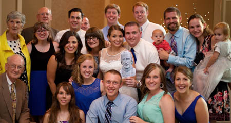 Many Blue Streaks attended the wedding of Alexa Schuele '11 Aaron Hostetter.