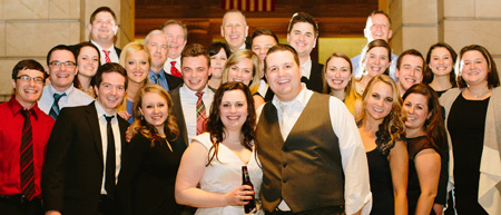 Many Carroll friends attended the wedding of Lauren Halladay and John Mastracco.