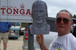 Jerry Johnson on the island of Tonga