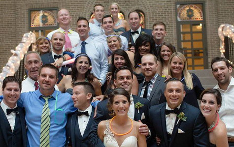 Shaun Castorano '06 and Cara Pizzurro '08 were married in Columbus, Ohio, August 2015.
